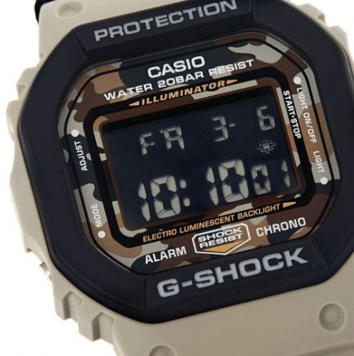 DW-5610SUS-5ER Casio Watch G Shock Men's Black Rubber Strap Digital With An Extra Resin Strap Too